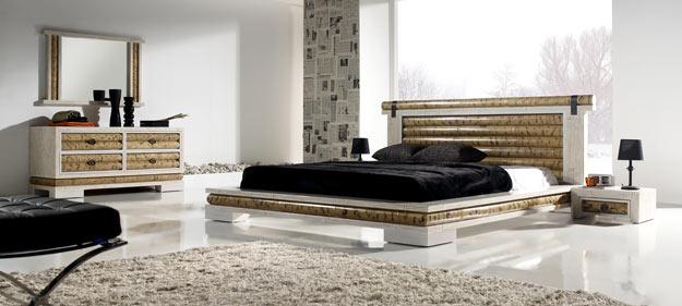 Bambus-Bett: 180x200 cm mit Lattenrost